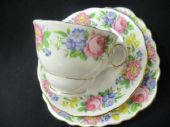 Colclough floral tea trio